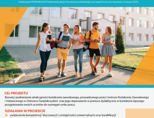 Nowe kwalifikacje uczniów i nauczycieli Centrum Kształcenia Zawodowego i Ustawicznego w Ostrowcu Świętokrzyskim